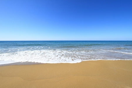 Golden sandy beach and Mediterranean sea Stock Photo - 18866376