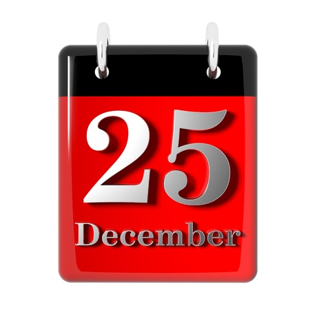 month 3d: Christmas day icon