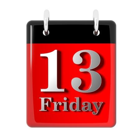 Friday the 13th-Symbol Standard-Bild