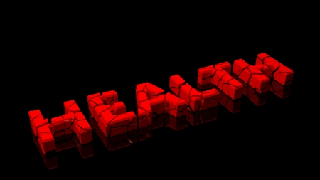 disastrous: Crashed health, word broken into red pieces on black background