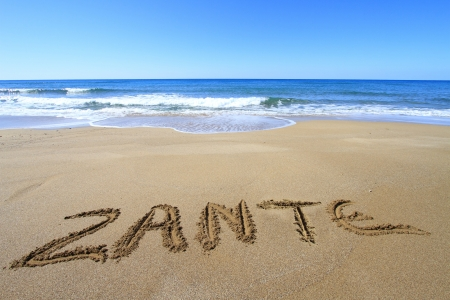 Zante written on sandy beach Stock Photo - 18931603