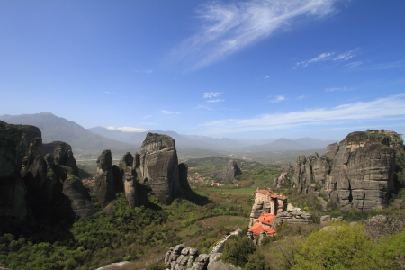 Ancient monastery in meteora, Greece photo