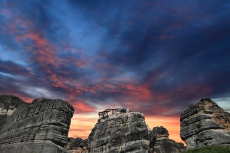 monastery nature: Ancient monastery in meteora, Greece
