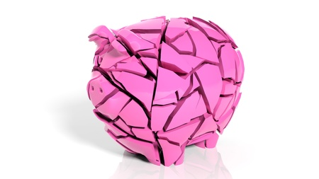 Broken piggy bank photo