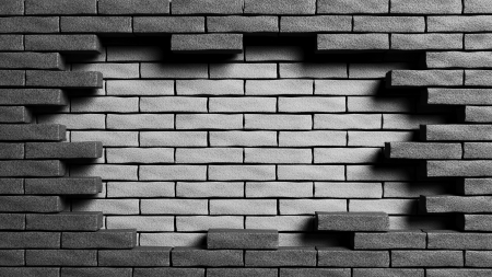 dead end: Double wall, Representation of dead end Stock Photo