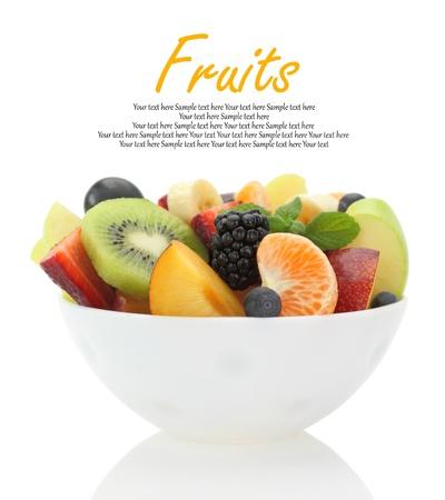 mixed fruits: Fresh mixed fruit salad in a bowl