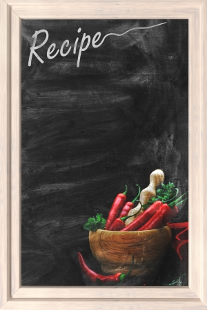 Recipe chalkboard  photo