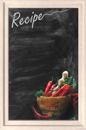 recipe card: Recipe chalkboard