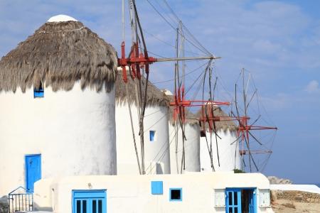 myconos: Windmills of Mykonos island in Greece