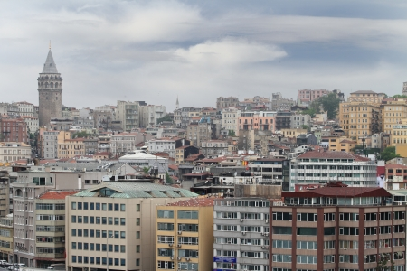 tenement: View of Istanbul in Turkey