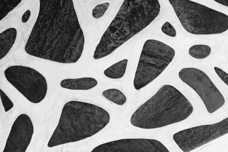 mykonos: Background of black and white stone floor texture