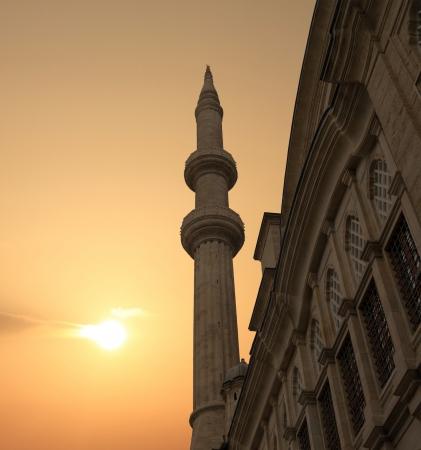 Blue mosque against sunset. Istanbul, Turkey  photo