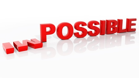 hopefulness: Make the impossible possible!  Stock Photo