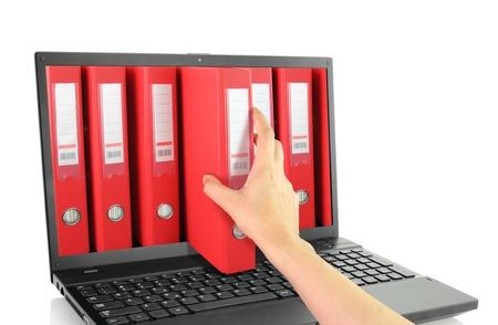 빨간색 링 바인더와 노트북 스톡 콘텐츠