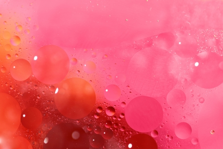 pink bubbles: Abstract background with bubbles in the water Stock Photo