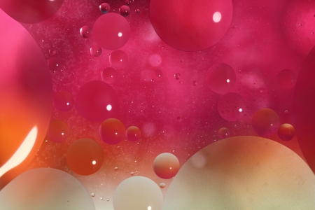 Abstract background with bubbles in the water photo