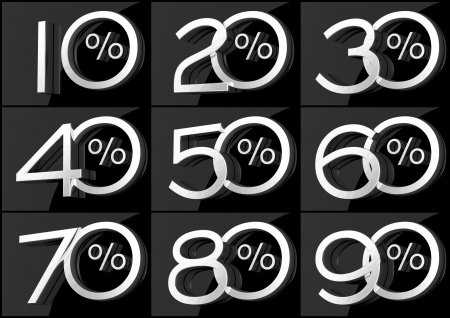 20 30: Group of numbers with percent symbol