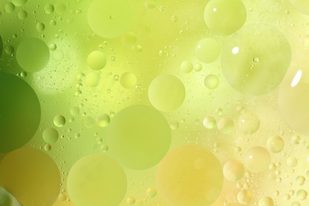 softness: Abstract green background with bubbles in the water