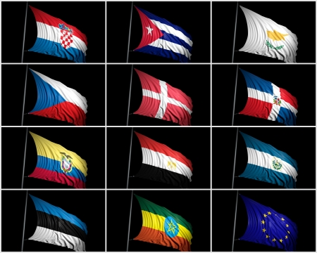 flaunt: Collection of  flags
