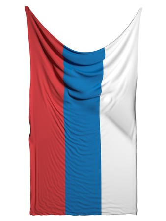 flaunt: Russian flag on white background Stock Photo