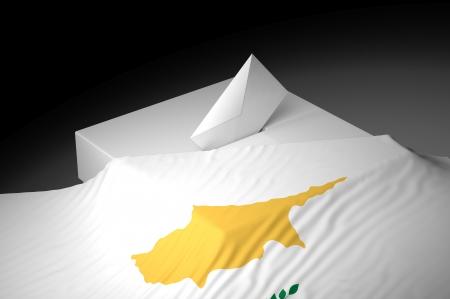 ballot box: Ballot box with the flag of Cyprus