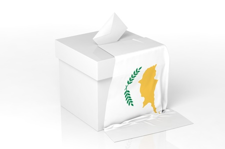 Ballot box with the flag of Cyprus Stock Photo - 20582421
