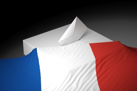 Ballot box with the flag of France Stock Photo - 20582470