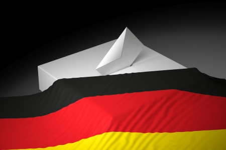 Ballot box with the flag of Germany Stock Photo - 20582485