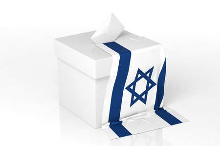 poll: Ballot box with the flag of Israel