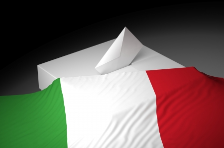 Ballot box with the flag of Italy Stock Photo - 20582468