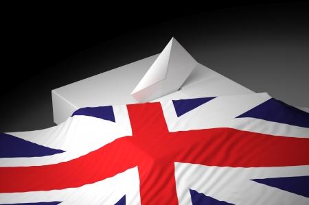 englishman: Ballot box with the flag of Great Kingdom