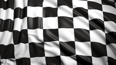 Finishing checkered flag Reklamní fotografie