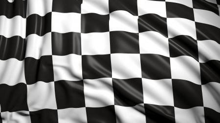 checkered flag: Finishing checkered flag