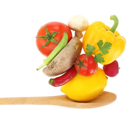 lose balance: Cooking with vegetables