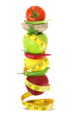 metabolism: Balanced diet with fruits and vegetables