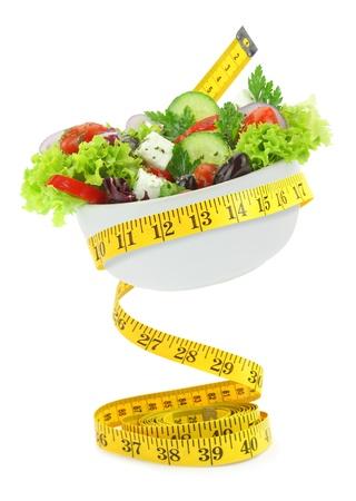 diabetes food: Balanced diet with salad