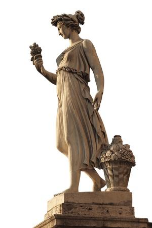 piazza: Goddess of abundance statue in Piazza del popolo