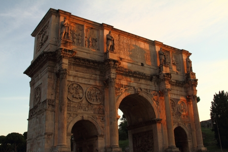 constantine: The arch of Constantine in Rome Stock Photo