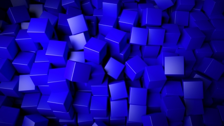 Abstract blue cubes background Stock Photo - 21589000
