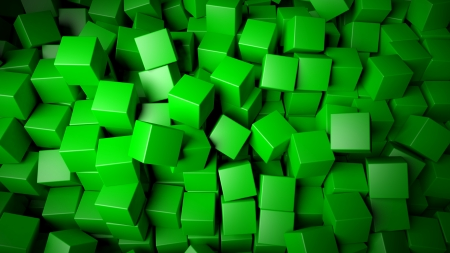 Abstract green cubes background photo
