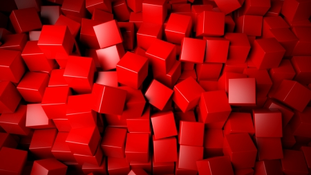 Abstract red cubes background Stock Photo - 21589015