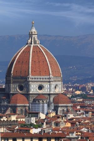 santa maria: View of cathedral Santa Maria del Fiore in Florence, Italy Stock Photo