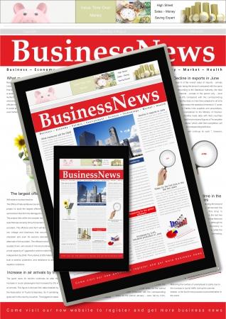 Digital business news concept  photo