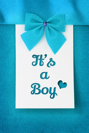 its a boy: Its a Boy, baby arrival announcement  Stock Photo