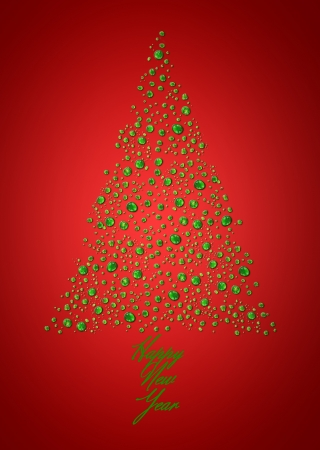 Christmas tree made from drops photo