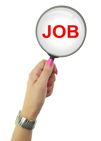looking for a job: Unemployed woman looking for a Job