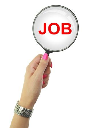 Werkloze vrouw op zoek naar een baan