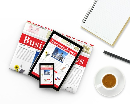 business news: Digital business news concept  Stock Photo