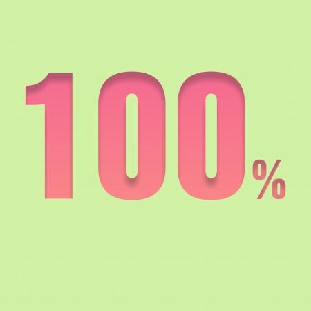 pal: One hundred  percent symbol Stock Photo