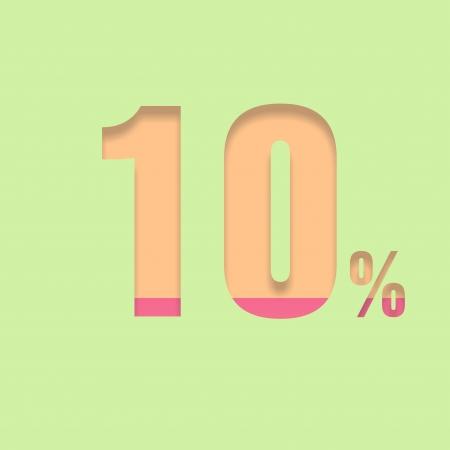 pal: Ten percent symbol